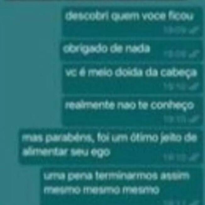 Print of the supposed conversation between João Guilherme and Jade Picon