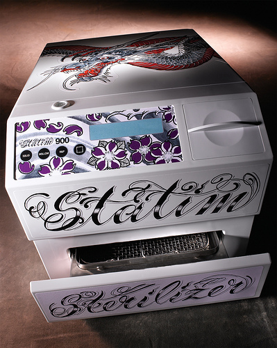 STATTOO sterilizes in only 6 minutes - right in your booth