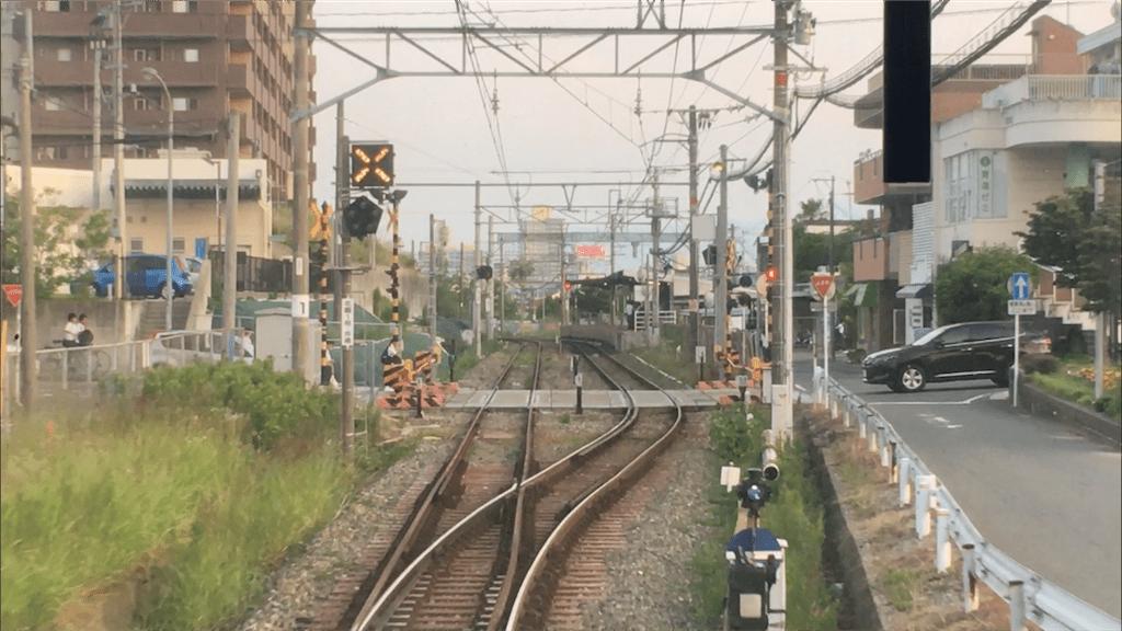 残された線路