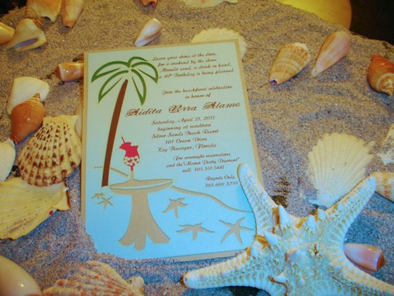 Beach Laser Cut Invitation