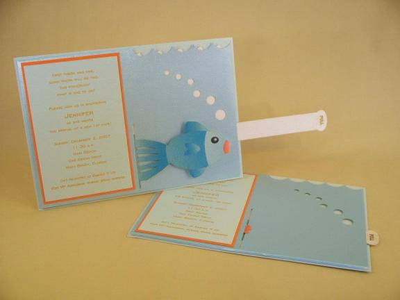 Pull Out Fish Invitation