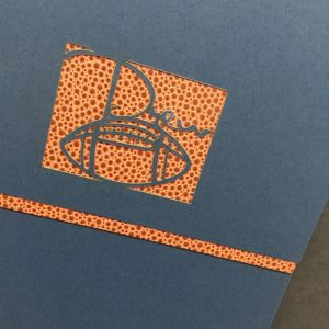 Football Invitation Mitzvah Laser cut die cut Blue