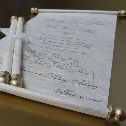 scroll invitations archives bliss stationery events