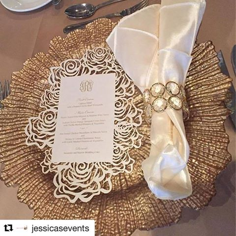 Laser Cut Rose Menus