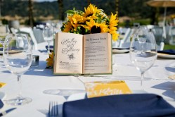 Instead of table numbers, we went with love stories.