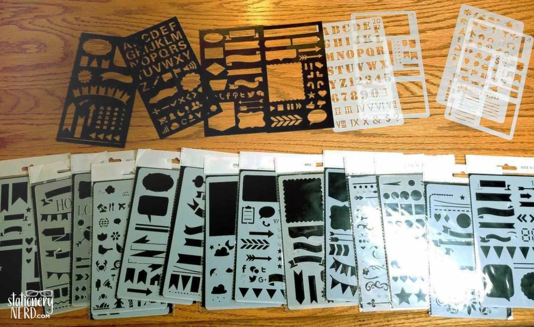 20 pc plastic stencils