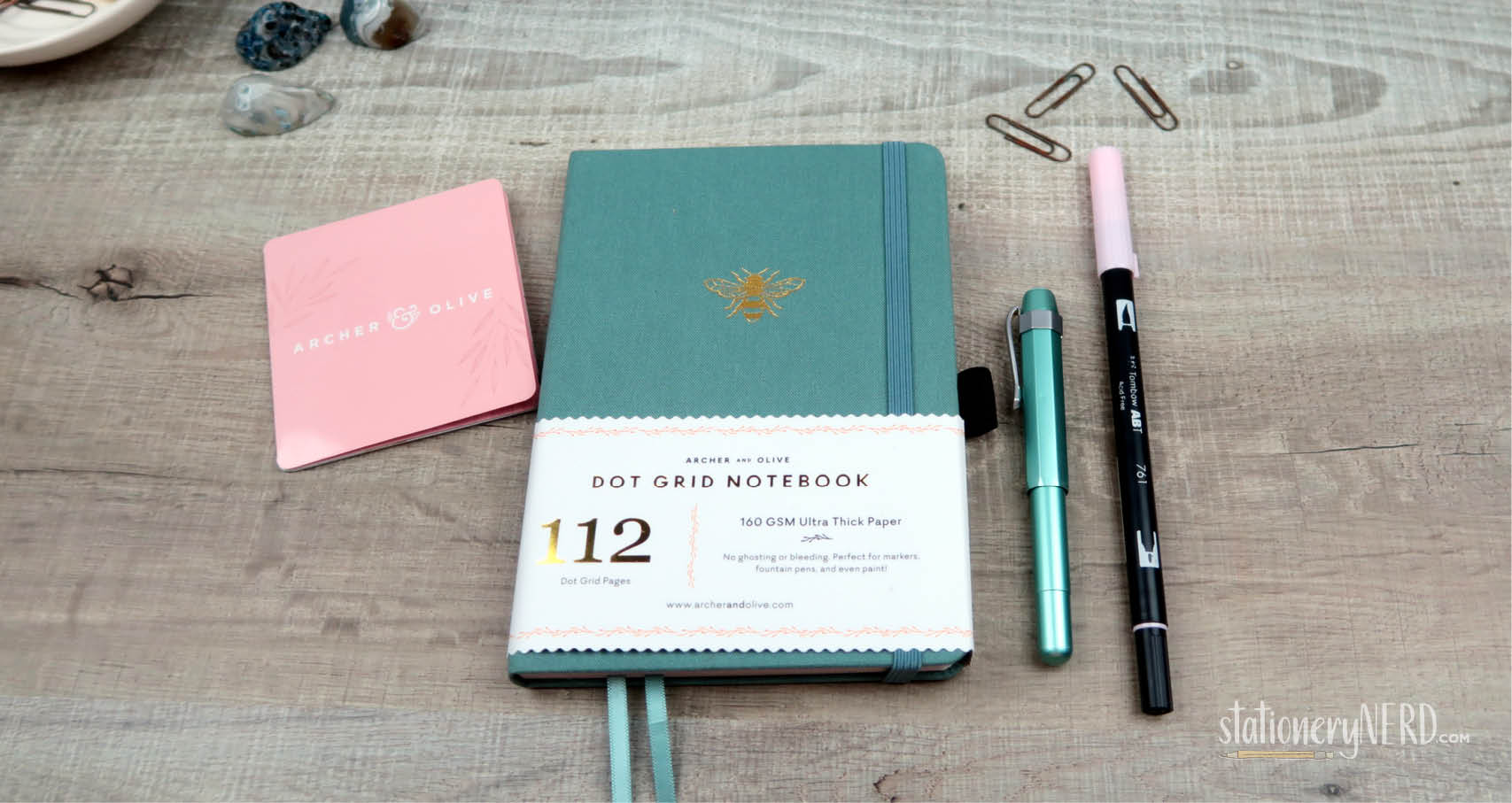 Archer Olive 160gsm Dotted Notebook Review Stationery Nerd