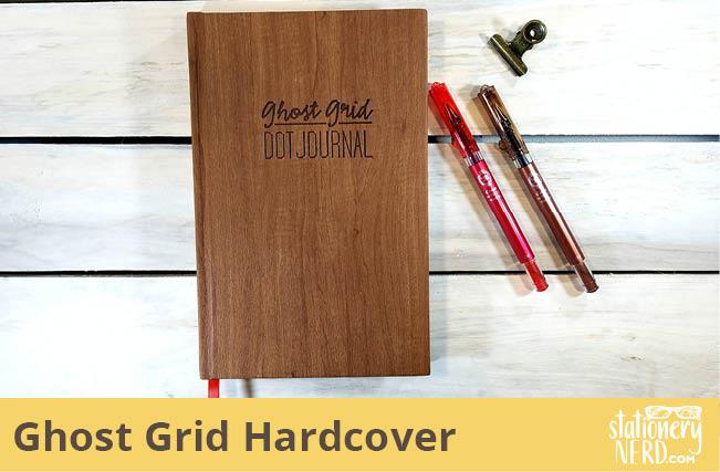 Ghost Grid Dot Hardcover Journal