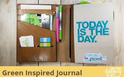 Green Inspired Chipboard Exposed Binding Journal