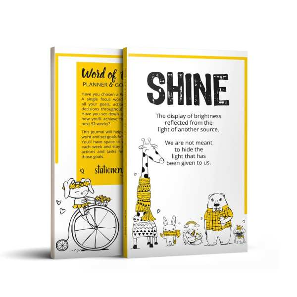 Word of the Year Planner SHINE