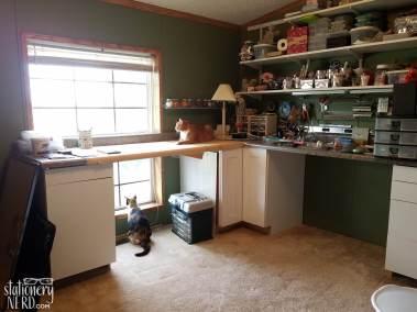 countertops in craft room