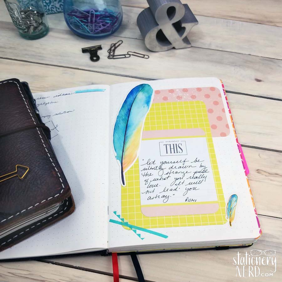 Cover mistakes in bullet journal