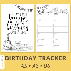 Birthday Tracker Thumb