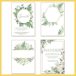 Sometimes a girl needs a little extra sparkle in her life, right? The printables in this section feature a watercolor background and a semi-transparent diamond intertwined shape on top. Add gold trim and lettering and this print is ready for any planner, journal, or home.
