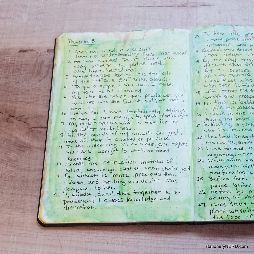 Writing Scripture in Journal