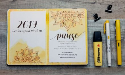 Adding my 2019 Word of the Year to my Bullet Journal