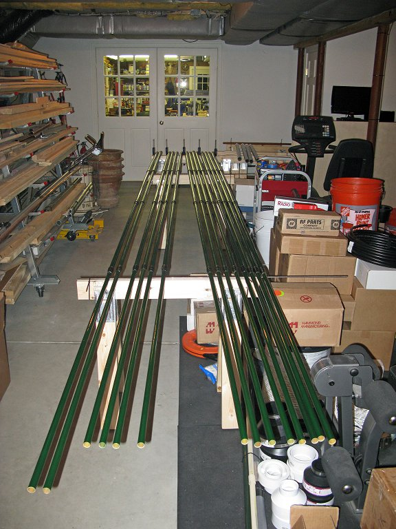 Element Housing Poles Prepped for Assembly