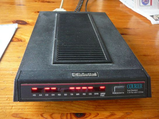 Dial-up Modem (Courtesy Wikipedia)