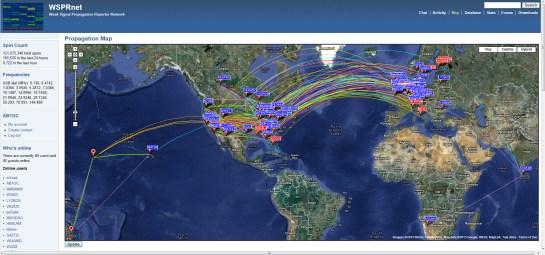 Worldwide 20m Propagation Reported By WSPRNet