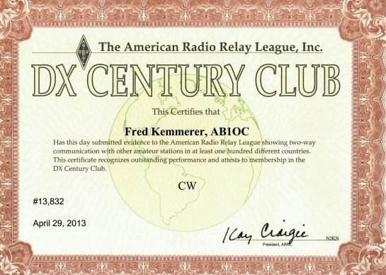 ARRL DXCC - CW Mode