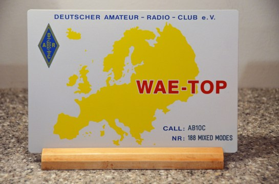 AB1OC WAE Top Plaque