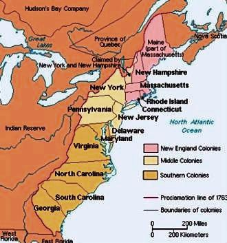 The Original Thirteen Colonies