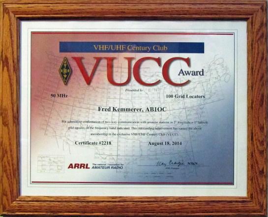 6M VUCC Operating Award