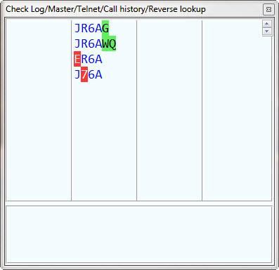 Callsign Check Window