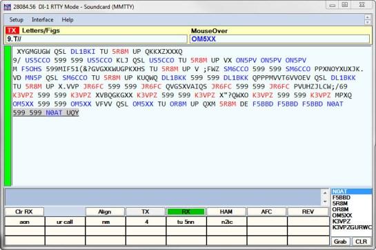 Digital Interface Window (MMTTY)