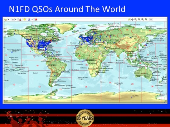 N1FD QSOs Around The World