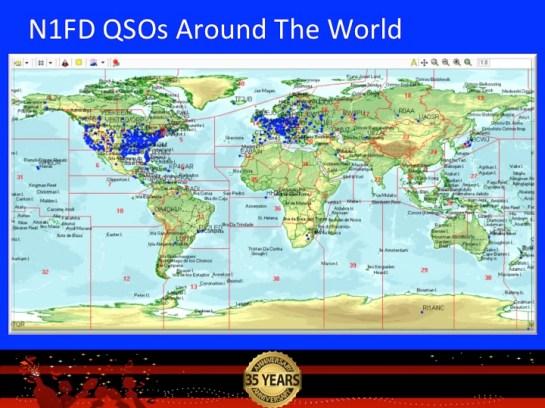 N1FD QSOs Around The World