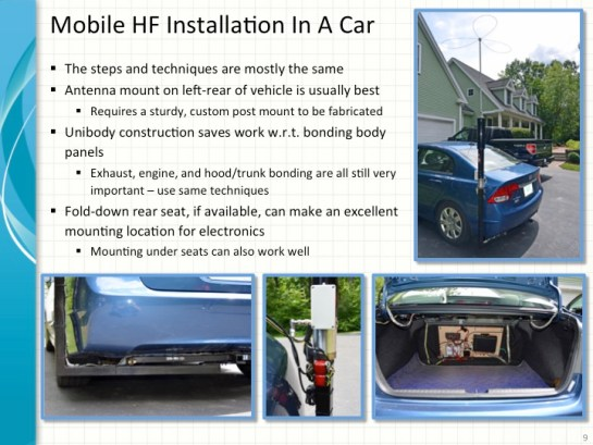 Mobile HF Car Installation
