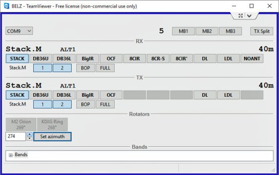 microHAM Station Master Deluxe Antenna Control via Teamviewer and Development App