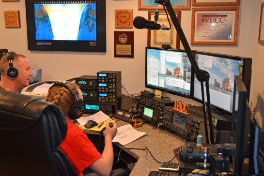 Abby and Her Dad Jamey Operating in the ARRL Rookie Roundup SSB