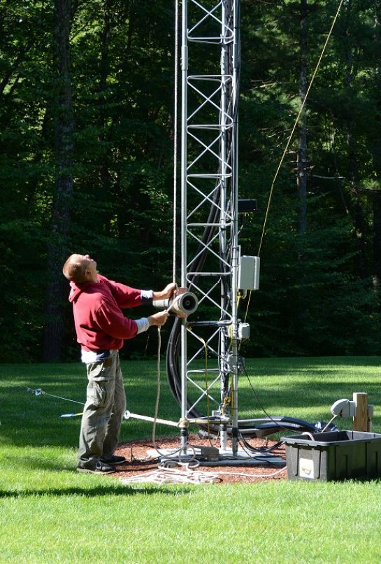 Lowering Antenna With Electric Winch