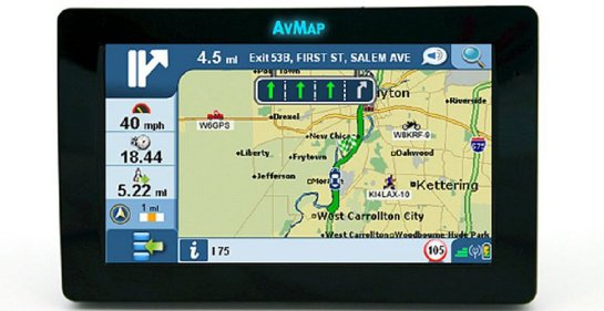 AvMap GeoSat 6 APRS Tactical Display