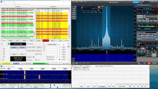 Flex-6700 SmartSDR and WSJT-X Weak Signal Digital Software