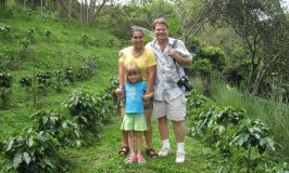 Us at an organic coffee plantation in the highlands.