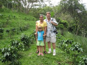 My family and I at an organic coffee plantation in the highlands.