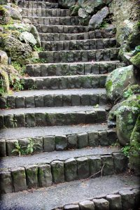 Picture of scenic steps to represent stepwise regression.