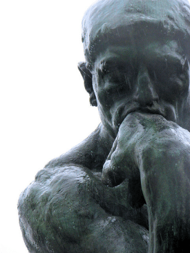 The Thinker by Rodin. He's thinking about model specification.