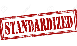 Image of a rubber stamp imprint that says standardized.