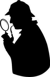 Sherlock homes investigating the analysis results for the regression tutorial.