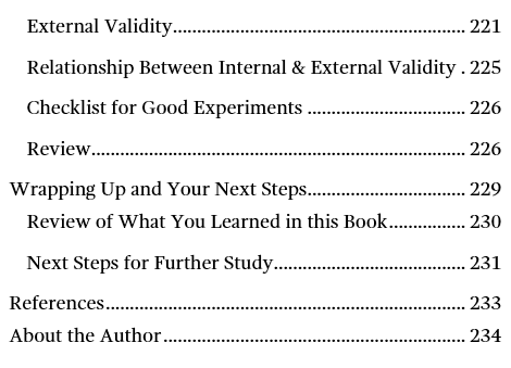 Image of page six for the table of contents for Introduction to Statistics: An Intuitive Guide.