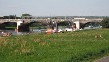 Albertbrücke Dresden, August 2013