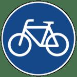 Fahrradweg blaues Symbol