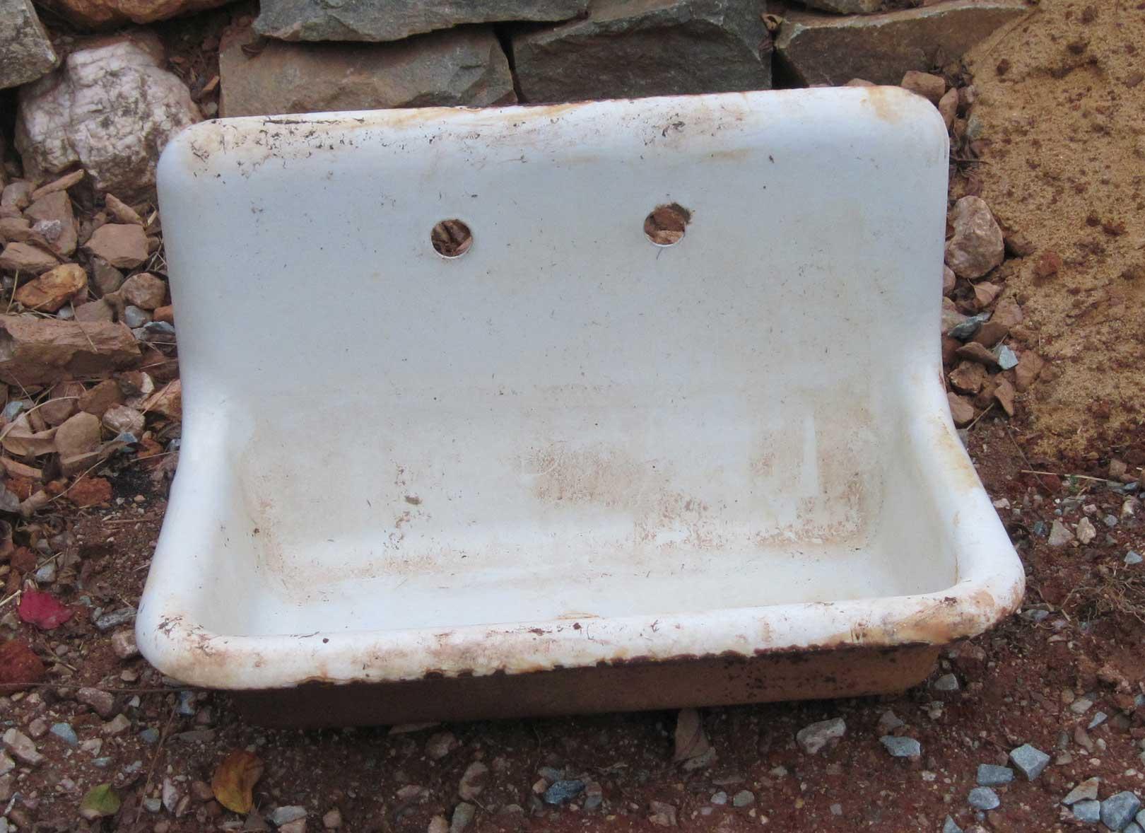 cast iron sink as a work of art