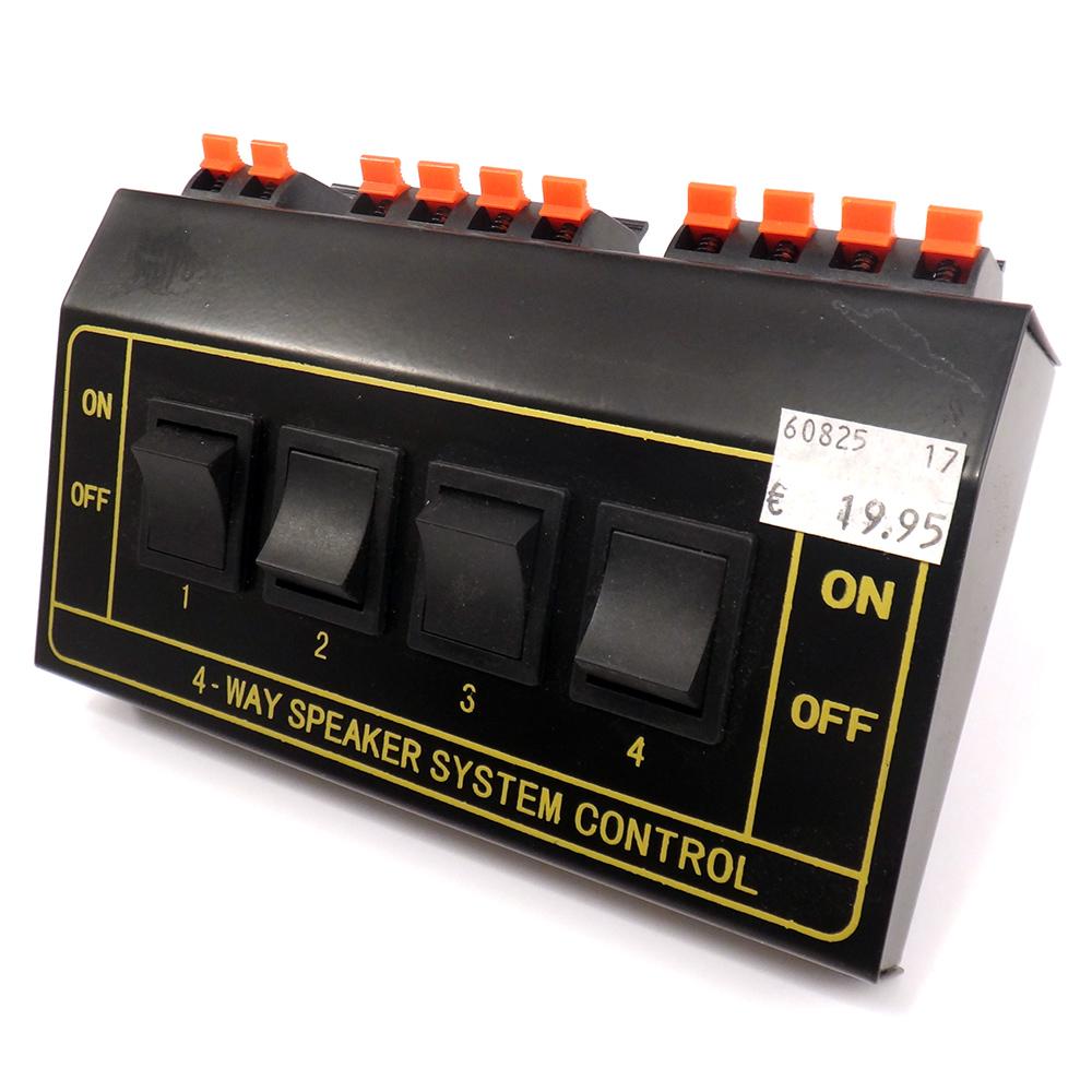 4-fach Lautsprecher Umschalter