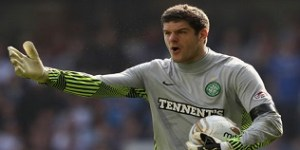 Fraser Forster in action for Celtic