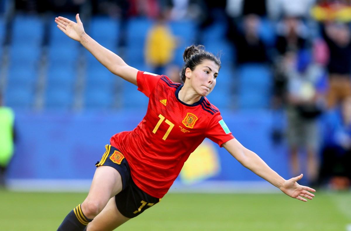 Spain forward Lucia Garcia